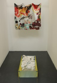 Graduation show - satin print and plaster casts